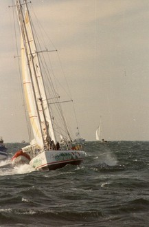Vendee Globe Challenge 1989-1990 - Philippe Poupon Depart